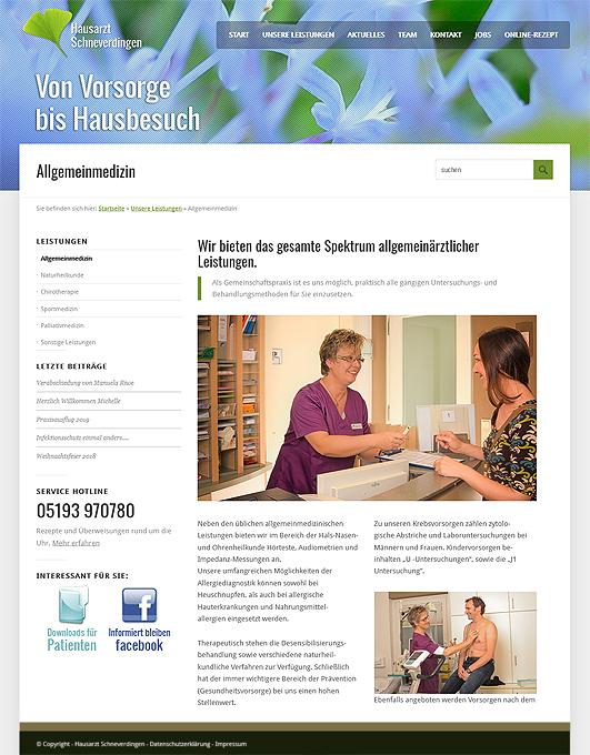 Modernes Webdesign für Arztpraxis im Heidekreis