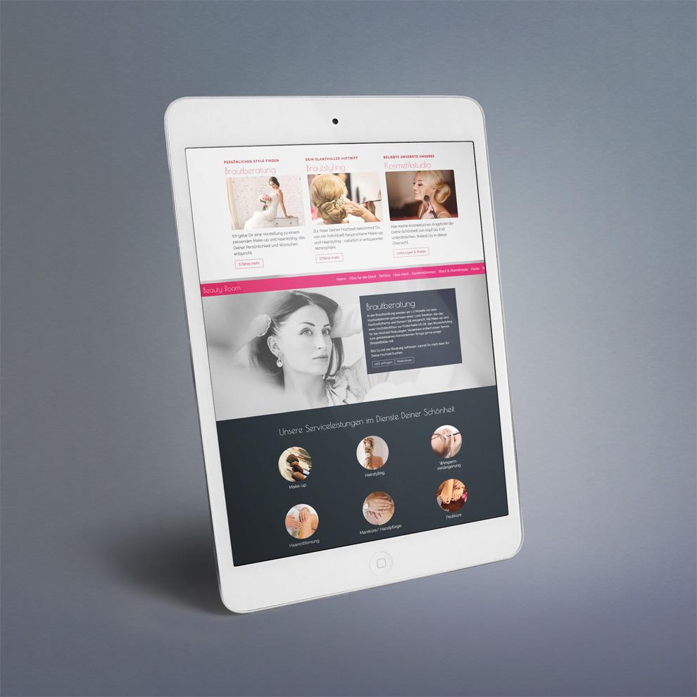 Übersichtliches Single-Page Website-Design