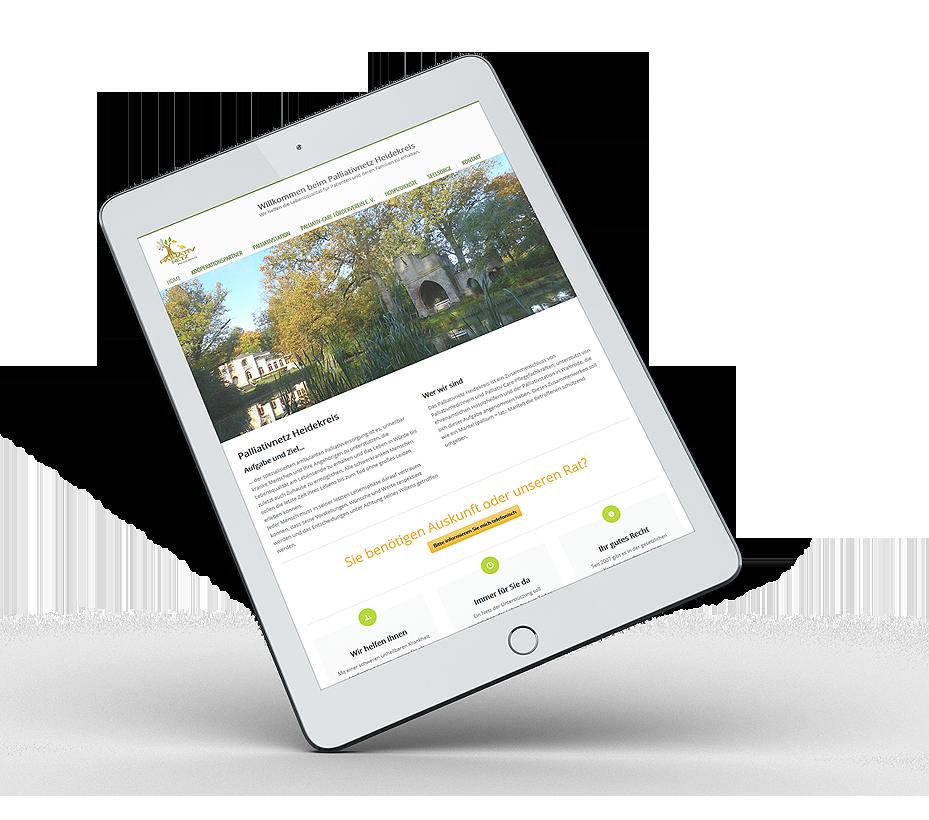 Webdesign und Pflege für Netzwerk von erica
