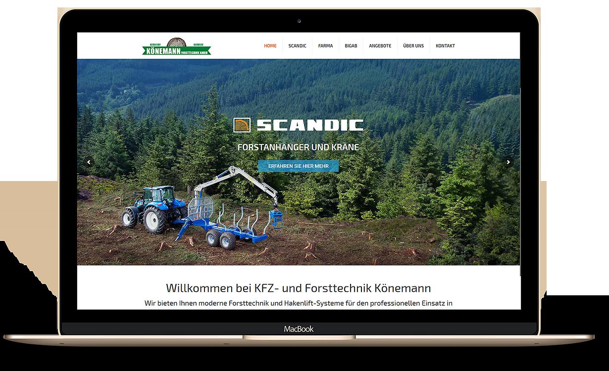 SEO-Webseite und forstgeräte Google ads Kampagne