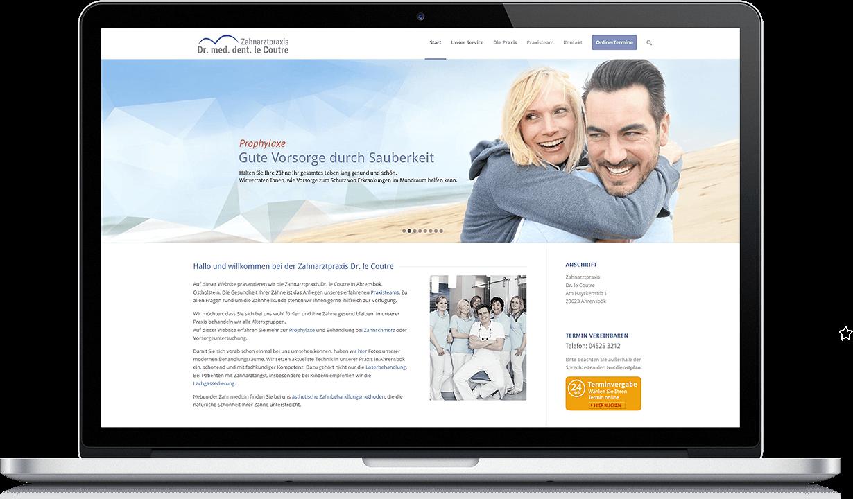 erica erstellt webeiten für zahnärzte