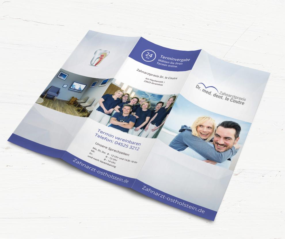 infoflyer für Zahnarzt Praxis in Ostholstein
