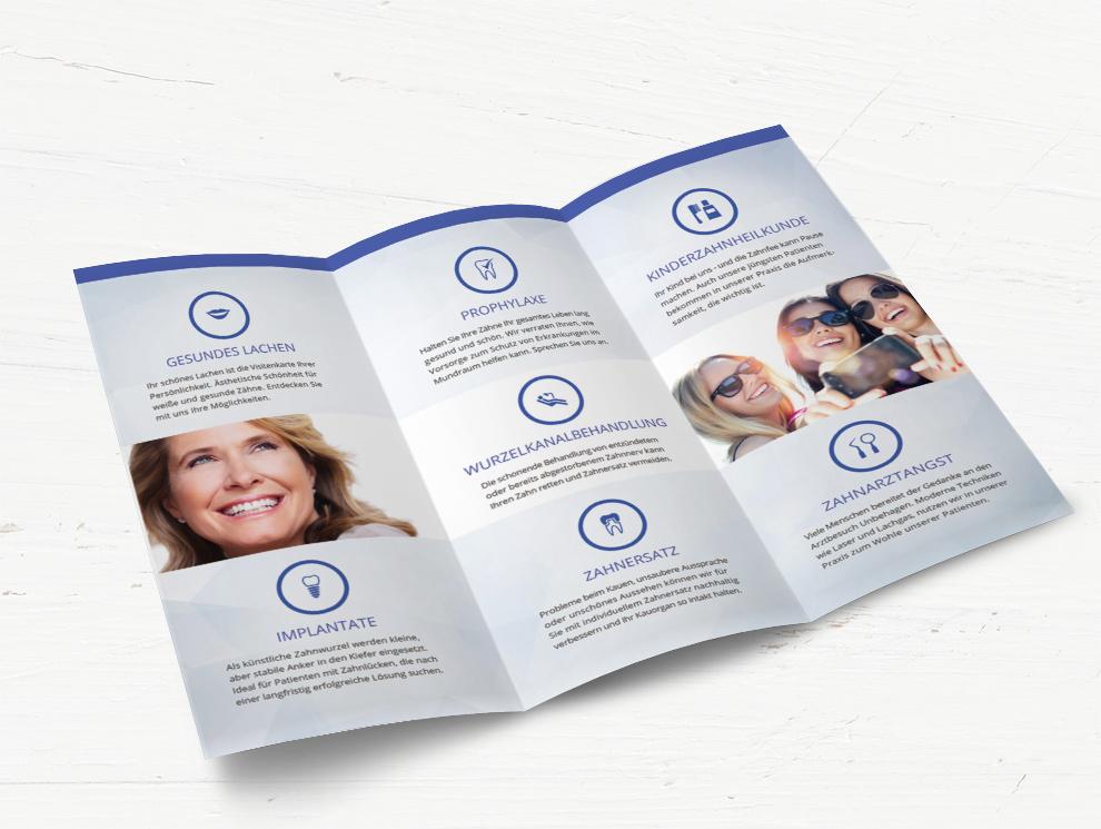 Infoflyer für Zahnarzt Angebote