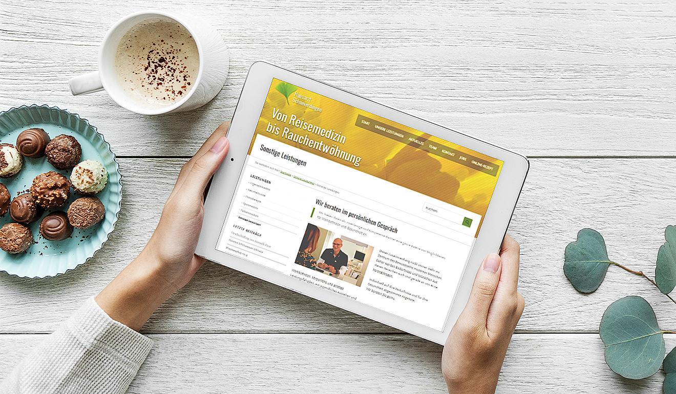 Arztpraxis im Netz, mit erica für Blogpflege
