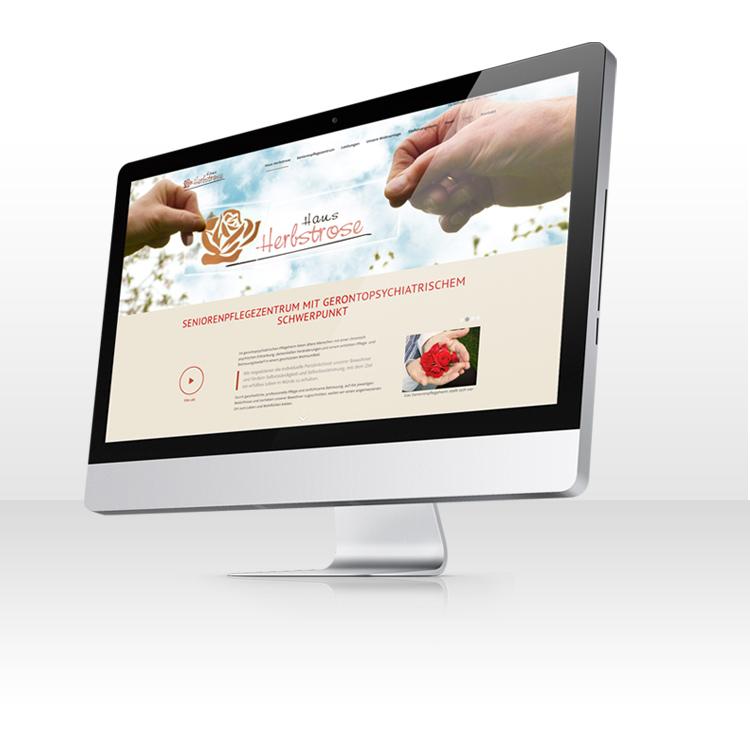 Webdesign und Fotografie für Seniorenheim Webseite