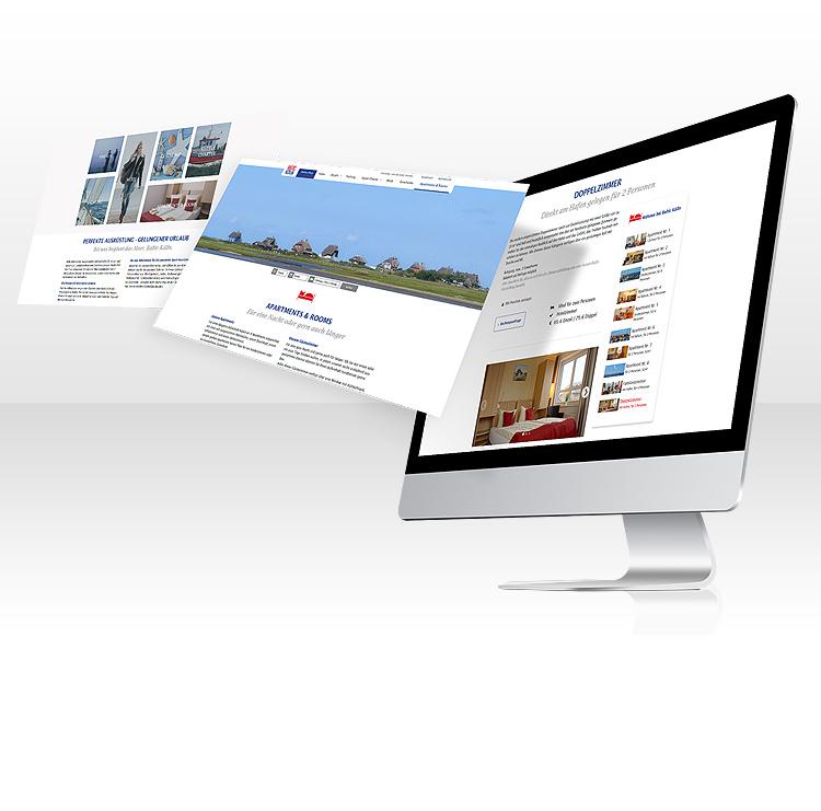 Webseite für Baltic Kölln mit individuellem Admintool