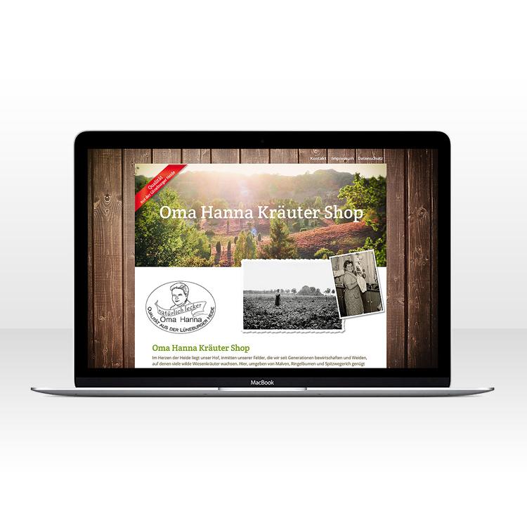 Single Page Website für onlineshop