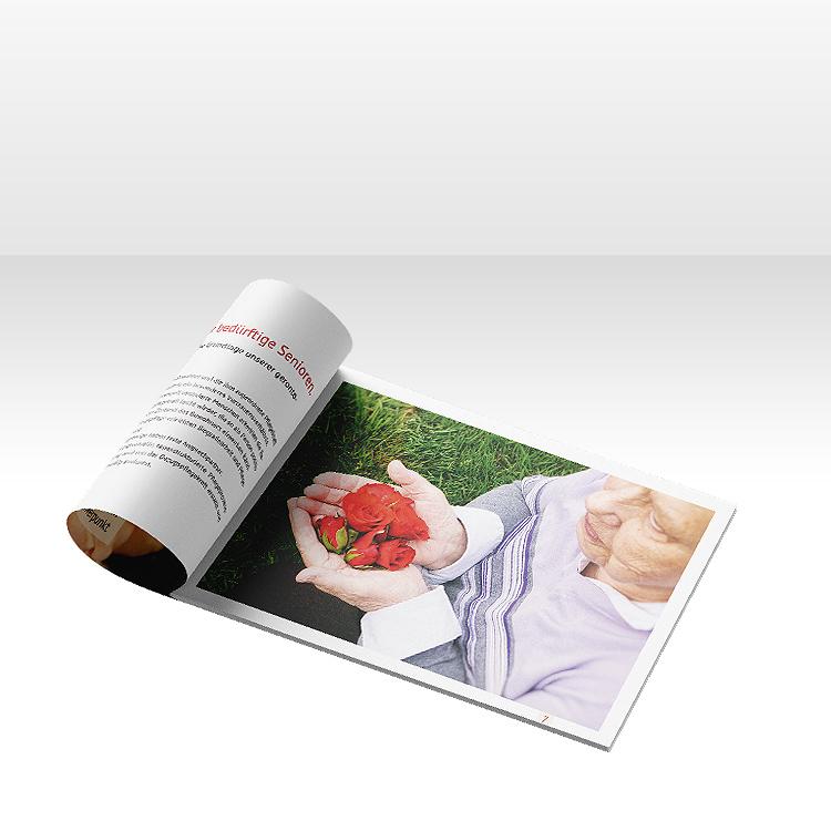 Unternehmensbroschüre für Seniorenheim Herbstrose