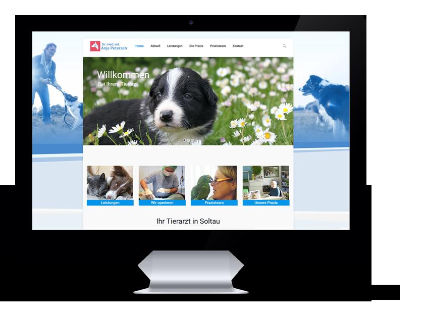 Webseite für Tierarztpraxis Soltau, Heidekreis