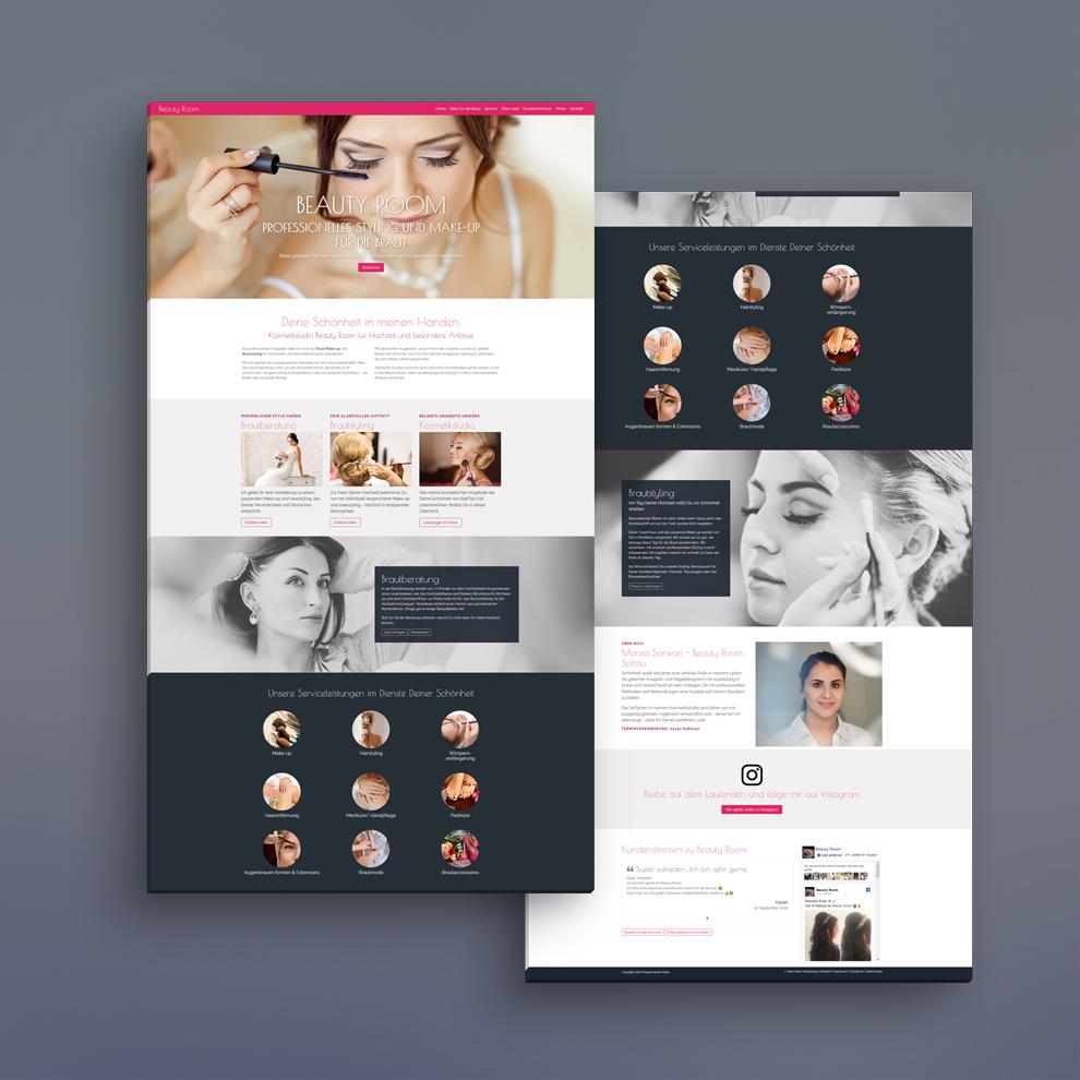 Single-Page Webseite mit Seo-Konzept und eigener Programmierung