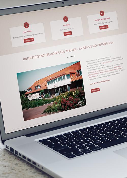 Seniorenheim Webseite mit Konzept und Texterstellung