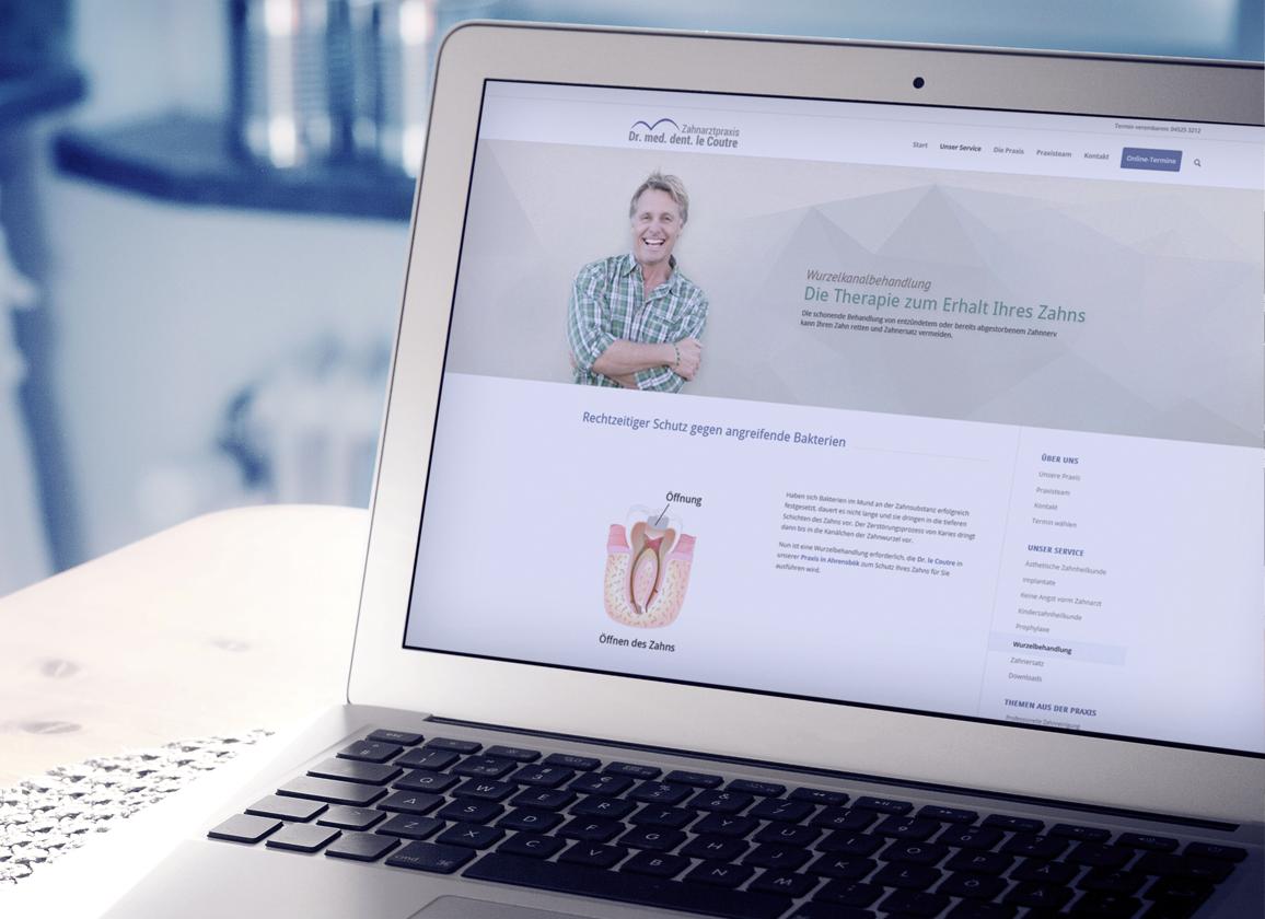 Zahnarzt Webseite in Wordpress