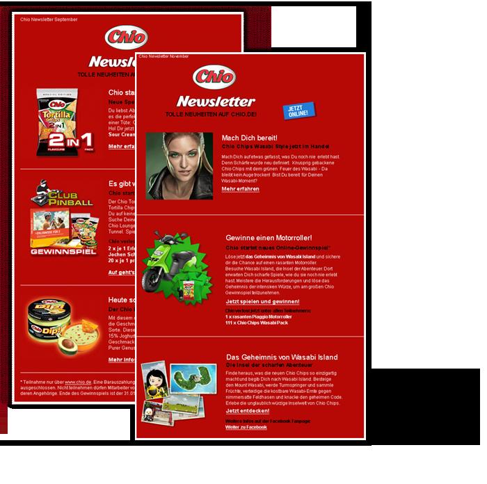 E-Mail Marketing mit Verstnad von erica - für chio chips
