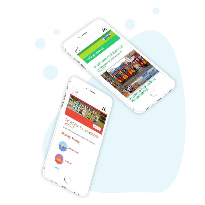 Mobile Webseiten für institutionen