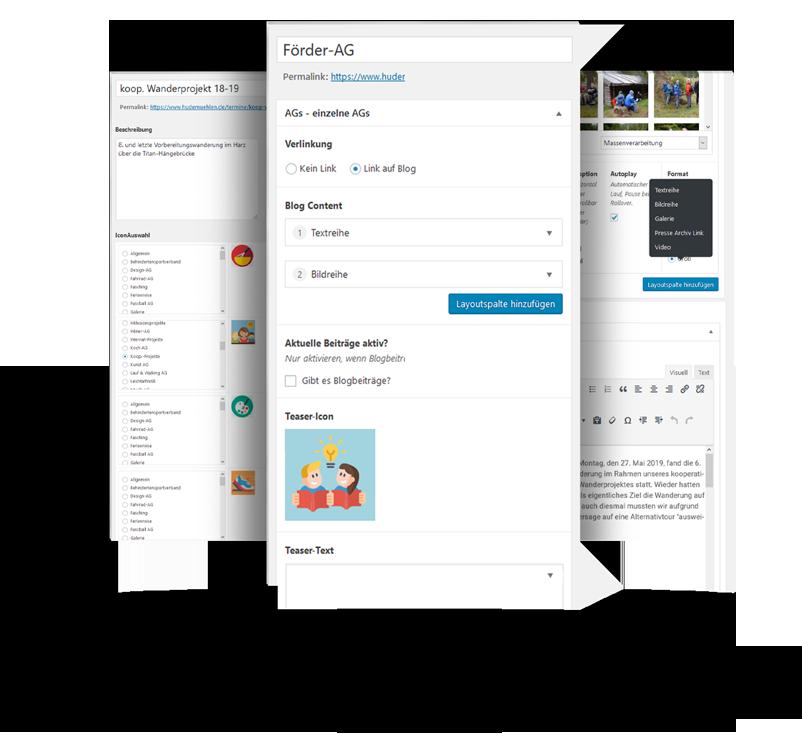 Wordpress-Webseiten mit angepaßter Adminoberfläche für Unternehmen, Heidekreis bis Hamburg
