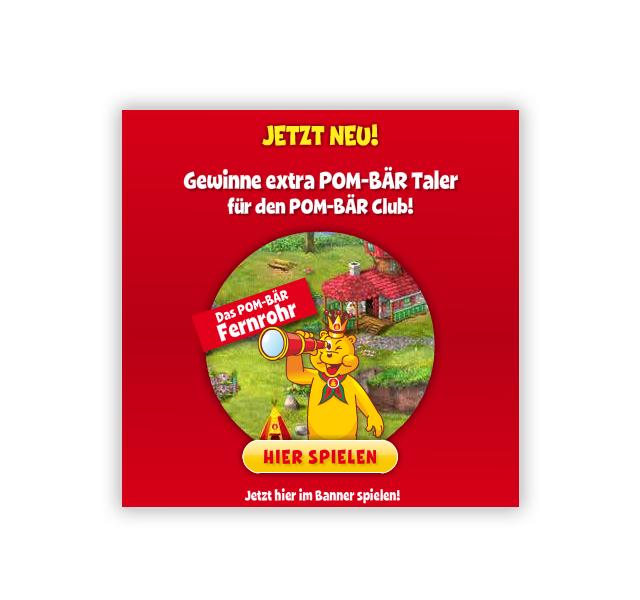 Animierte Banner von erica für Pombär, Display Ads Anzeigen