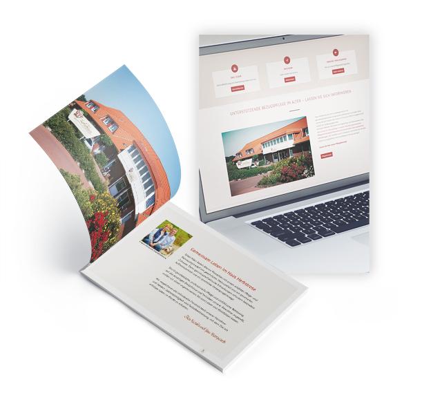 Broschüre und Webseite für Unternehmen