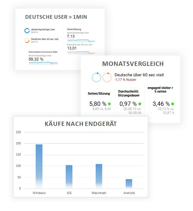 Monitoring und Reporting für E-Commerce, Onlienshops